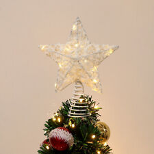 Unomor Lumière de Cime de Sapin de Noël Lampe en Forme d'étoile pour Maison