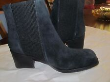 Naya Womens Gang Black Suede Panel Ankle Boots Shoes 11 Medium (B,M)