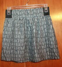 A. BYER Large TEXTURED/CRINKLE SKIRT (gray w/ pockets & wide elastic waist)