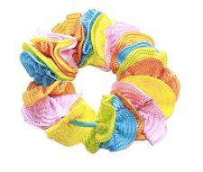 Colour Splash-orange,Pink,Blue,Green,Yellow Circle/Elastic Blue Hair Band(Zx291)