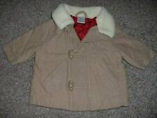 Gymboree Baby Boys Holiday Traditions Tan Toggle Coat Jacket Size 3-6 months mos