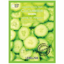 3 Pcs Cucumber Lebelage Natural Mask Facial Essence Sheet Pack Korea Beauty