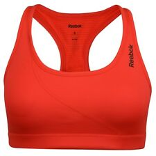 New Reebok Logo Sports Bra Vest Top, Ladies Womens Gym Training Fitness - Pink