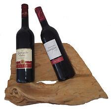 Botellero para vino soporte botellas Marrón Claro Deco Objeto madera de teca 2