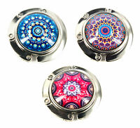 Baghook - Table Handbag Holder/Hook - 3 Mandala Designs-4.5cm dia-AU Seller