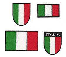 STOCK PATCH RICAMO TOPPA BANDIERA E SCUDETTO ITALIA DA CUCIRE SENZA VELCRO
