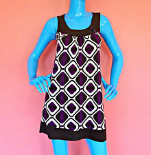 XXI Forever 21 Mod Retro Mini Dress Tunic Juniors M 7 8 Women S A-Line USA Made