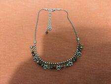 "BRIGHTON Silver Plated Necklace Adjustable 16""To 18"" 2 Shades Of Smokey Quartz"