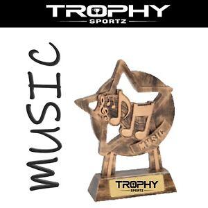MUSIC 150mm RESIN trophy award ACHIEVEMENT winner runner up