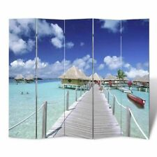 "Screens Room Divider Beach Print 78.7"" x 70.9"" Home Outdoors"