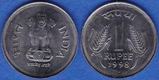 India 1998 1 Rupee NODIA MINT KM-92.2 BUNC - US-Seller