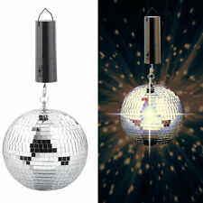 Spiegelkugel: Selbstdrehende Discokugel zum Aufhängen, Ø 20 cm, Batteriebetrieb
