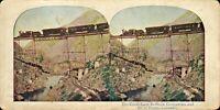 victorian colour stereoview -  the great loop between georgetown & colorado