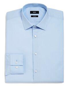 Hugo Boss Slim Fit 16.5 Light Blue Long Sleeve Button Down