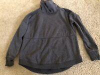 Athleta Gray Funnel Neck Sweatshirt Size XS