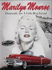 Marilyn Monroe Cadillac, Classic/Vintage American Car Large Metal Tin Sign