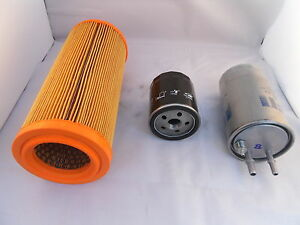 Fiat Doblo 1.9 MJTD Diesel Service Kit Oil Air Fuel Filter 2005 Onwards 120BHP