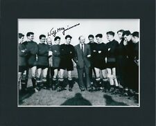WILF McGUINNESS MANCHESTER UNITED HAND SIGNED MOUNTED AUTOGRAPH PHOTO 10X8 COA