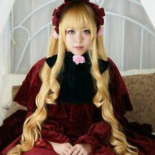 Rozen Maiden Pure Ruby Long Cosplay Hair Fashion LOLI Wig + Wig Cap