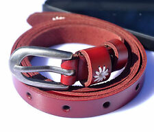 Small 1.5cm wide Rose iron buckle genuine leather woman black white belt 2012