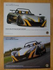 Lotus 2 Once 2x folleto Folletos - 2009-pista días de conducción acaban de graves