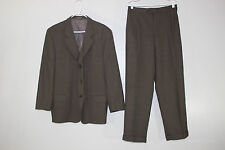 Calvin Klein Mens Sz 46 R & 32X29 Dark Brown Wool Blend Suit Jacket & Pants NICE