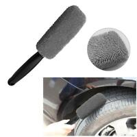 Slim Microfiber Car Wheel Rim Brush Cleaner Handle Cleaning Washing Brush Tools