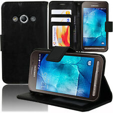 Etui Coque Housse Portefeuille Video NOIR Samsung Galaxy Xcover 3 SM-G388F