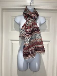 Ladies FAT FACE Print Lightweight Woven Printed Scarf