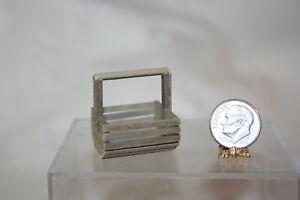 Miniature Dollhouse Wooden Market or Lobster/Clam  Basket Artisan :12 NR