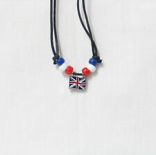 United Kingdom Country Flag Small Metal Necklace Choker . New