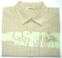 QUIKSILVER MENS SIZE LARGE STREAMLINE BUTTON UP SHORT SLEEVE SHIRT FREE POST