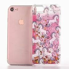 Dynamic Quicksand Glitter Liquid Unicorn Phone Case Cover For iPhone 7 6s 7 plus