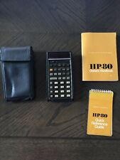 Vintage HEWLETT-PACKARD HP Model HP-80 Calculator w/charger