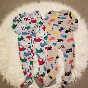 Oshkosh B'gosh 2 Peice footie Pajama Lot