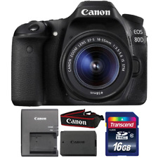 Canon EOS 80D 24.2MP DSLR Camera with 18-55mm IS STM Lens and 16GB Memory Card