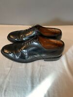 Allen Edmonds Chester Black Leather Wingtip Oxford Dress Shoes Mens Sz 8 D