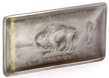 TITANIUM BUFFALO Bar 1Oz .999 Fine PURE Titanium BULLION Investment Bar 1 Ounce