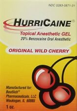 HURRICAINE TOPICAL ORAL ANESTHETIC GEL 1oz WILD CHERRY HURRICANE, Pack of 1