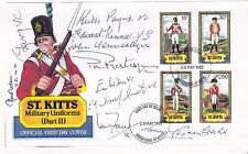 Piece St Kitts Card  Military Uniforms Signed   9 Victoria Cross Holders