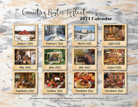 2021 Calendar Country Rustic Reflections ~Country Primitive Farmhouse Antiques