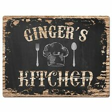 PP2820 GINGER'S KITCHEN Plate Chic Sign Home Room Kitchen Decor Birthday Gift