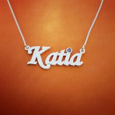 Solid 14k White Gold Necklace / Order any name! or word / !4k Gold Nameplate 14c