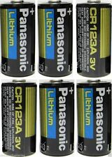 6 Panasonic 3V Lithium CR123A Batteries for Camera,Made In USA EXP 2024