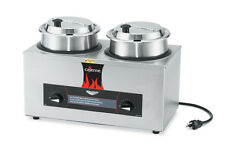 Vollrath 72040 Twin Well Rethermalizer 4 Quart w/ Insets & Hinged Cover