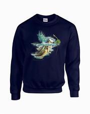 Jumping Lambert Bass Fishing Largemouth Crewneck Sweatshirt