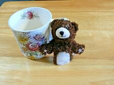 Manhattan Toy Brown/Cream Marled Bear Finger Puppet 2002 Rare