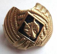 Boy Scout TIGER CUB NECKERCHIEF SLIDE - WOLF RANK Tie Gold DK BLUE Woggle NEW