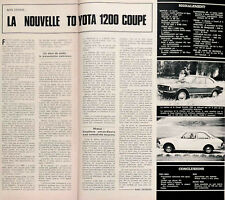 Article papier TOYOTA 1200 COUPE 1970 PIP1051746