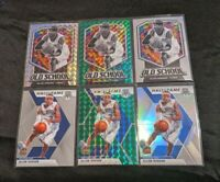 2019-20 Panini Mosaic Prizm And Base Allen Iverson (6). Green, Silvers And Base